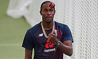 England's Jofra Archer during nets