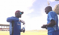 West Indies training session at Sir Vivian Richards Cricket Ground Antigua
