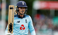 England's Sarah Taylor walks off