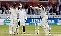 England's Jofra Archer celebrates the wicket of Australia's Tim Paine