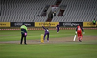 Loughborough Lightning secured a 35-run victory over Lancashire Thunder