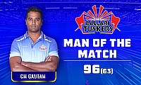 CM Gautam fell just four short of his century