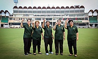 Standing from (left-right) – Nazia Nazir, Shakila Rafiq, Sabahat Rasheed, Afia Amin and Humaira Farah
