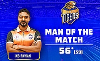 KB Pawan scored a 39-ball 56