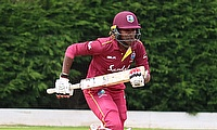 Britney Cooper in action for the West Indies Women versus Ireland in May, 2019.
