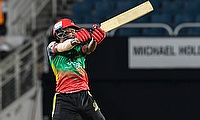 Keron Cottoy of St Kitts and Nevis Patriots hits 6