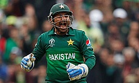 Sarfaraz Ahmed celebrates