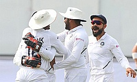 India clinch Freedom series with an inning and 137 run victory over South Africa in Pune Test