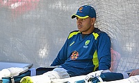 Captain Usman Khawaja during training