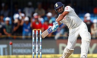 Sharma hits his 3rd hundred of the series to give India the advantage on Day 1