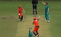 Brisbane Heat beat Perth Scorchers by eight wickets at Sydney's Drummoyne
