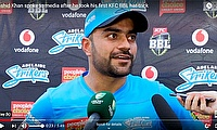 Rashid Khan spoke to media after he took his first KFC BBL hat-trick