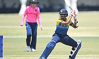 Ravindu Rasantha of Sri Lanka during the ICC U19 Cricket World Cup Plate Semi-Final