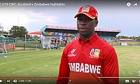ICC U19 CWC: Scotland v Zimbabwe highlights