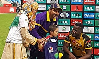 Sarfaraz Ahmed and Darren Sammy shared their shirts with a young cancer patient last year to create awareness about Childhood Cancer - PCB