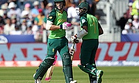 South Africa's Faf du Plessis and Hashim Amla in action