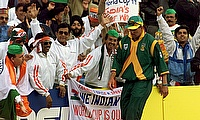 South Africa's captain Hansie Cronje  during the opening session of their Cricket World Cup match on the May 15 1999