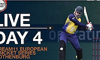 Live European Cricket Series Gothenburg Day 4