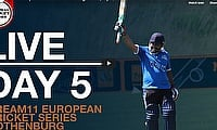 Live European Cricket Series Gothenburg Day 5 | Cricket Live Streaming