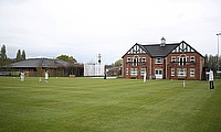 Scarecrows created by Northwich Cricket Club members are pictured placed on the cricket field