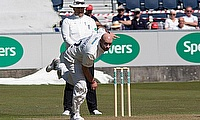 Chris Rushworth (Durham) in action
