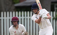 Dan Newton batting against Brooklands