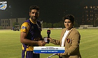 Asif Khan receives the player of the match award
