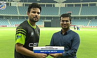 Imran Haider receives Man of the Match Award