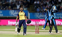 T20 Blast Finals Day - Edgbaston, Birmingham, Britain - September 21, 2019 Essex Eagles' Ravi Bopara celebrates after winning the final