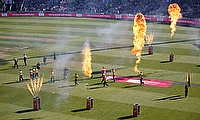 T20 Blast Finals Day - Edgbaston, Birmingham, Britain - September 21, 2019 General view as Notts Outlaws' and Worcestershire Rapids' enter the field f