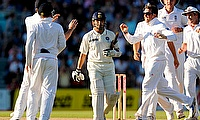 India's Sachin Tendulkar leaves the field after being dismissed by England's Graeme Swann