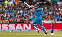 India's MS Dhoni in action