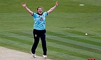 Anya Shrubsole celebrates a wicket
