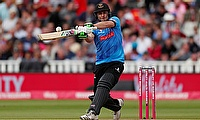 Sussex Sharks' Luke Wright raised his competition aggregate to 350 runs by top scoring with 45