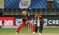 Sunrisers Hyderabad's Vijay Shankar bowled YS Chahal for 0