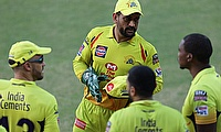 MS Dhoni captain of Chennai Super Kings during match