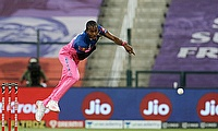 Jofra Archer in action for RR