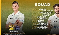 WACA announce one change to their Round 4 Sheffield Shield Squad