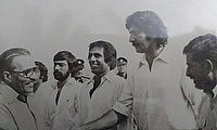 Introduced to General Zia-ul-Haq - Lahore Test 1978