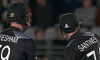 New Zealand's Jimmy Neesham and Mitchell Santner