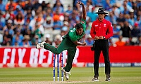 Bangladesh's Rubel Hossain in action