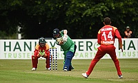 Paul Stirling batting v Zimbabwe, 2019