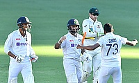 India players celebrate Test series win in Australia
