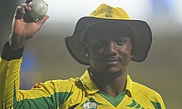 Andre McCarthy after bowling Jamaica Scorpions to victory