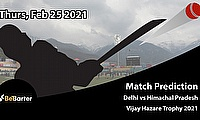 Delhi vs Himachal Pradesh, Round 3, Elite Group D