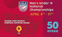 USA Cricket Announces Men's Under 19 National Championship to Start 2021 Season