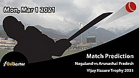 Fantasy Cricket Predictions and Betting Tips: Nagaland vs Arunachal Pradesh, Round 5, Plate