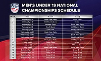 USA Cricket Men's Under 19 National Championship schedule