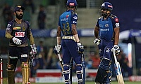 Rohit Sharma captain of Mumbai Indians speaks to team member