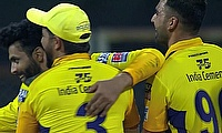 Chennai Super Kings celebrate
